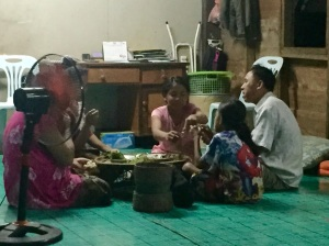 This family shares mealtime around a small table close to the floor. This photo was actually taken in a village in Laos (not Thailand), but it is the perfect example so I had to include it.