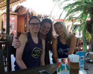 My German friends Tanya (on the left) and Mona (on the right) with me here at the Yoga Barn Cafe. We all stayed at Mertayasa 2 Guesthouse in Ubud and became very close during our time in Bali.