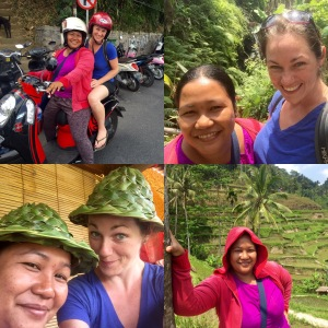 Wayan and I and our shenanigans at the rice terraces just outside of Ubud.