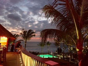 The beach clubs along the beach in Seminyak are a popular hangout spot for honeymooners in Bali.